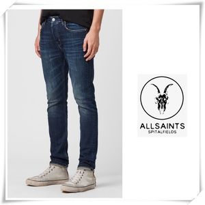 All Saints Cigarette leg Jeans Dark Vintage Washed